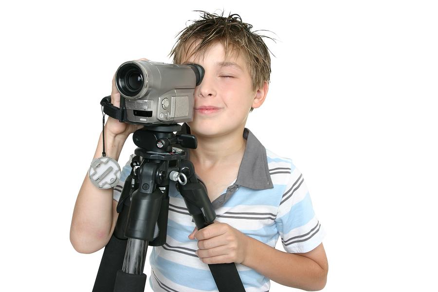 Молодежь снимает себя на видео